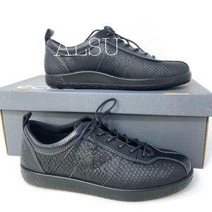 ECCO Soft 1 Leather Black Noir W AUTHENTIC